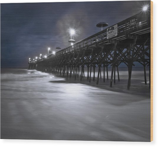 Wood Print featuring the photograph Spooky Pier by Francis Trudeau