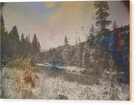 Sprayscape Wood Print by Stephen Sly