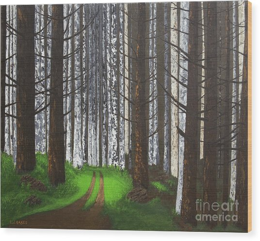 Spring After The Fire Wood Print