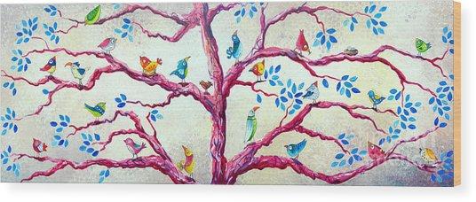 Spring Birds Wood Print