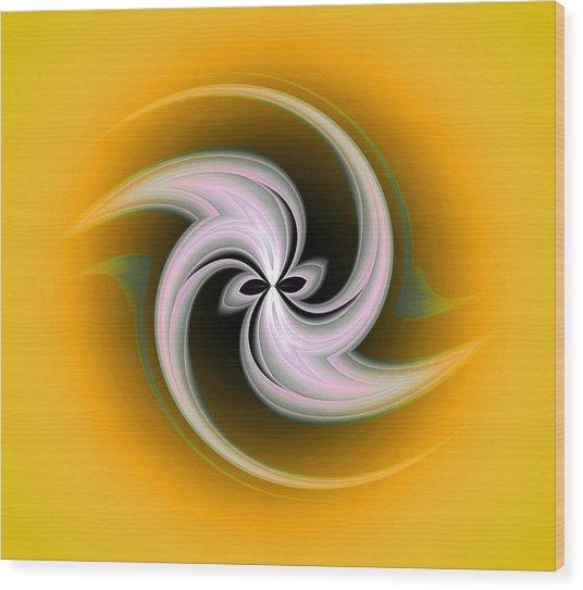 Wood Print featuring the digital art Spring Flower by Visual Artist Frank Bonilla