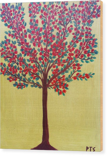 Spring In Full Bloom Wood Print by Prachi  Shah