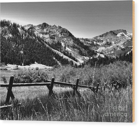 Squaw Valley At Lake Tahoe Wood Print