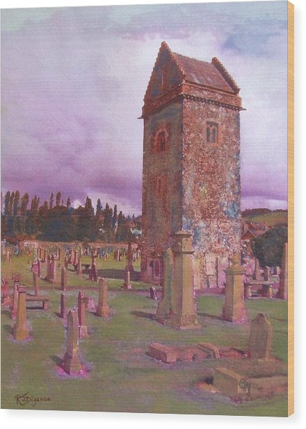 St Andrews Tower  Peebles Wood Print