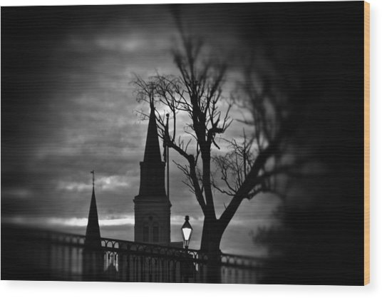 St. Louis Cathedral At Night 1 Wood Print