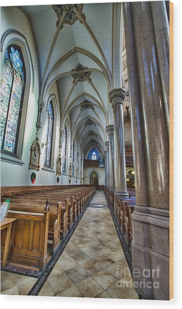 St Louis Church 10 Wood Print by Chuck Alaimo