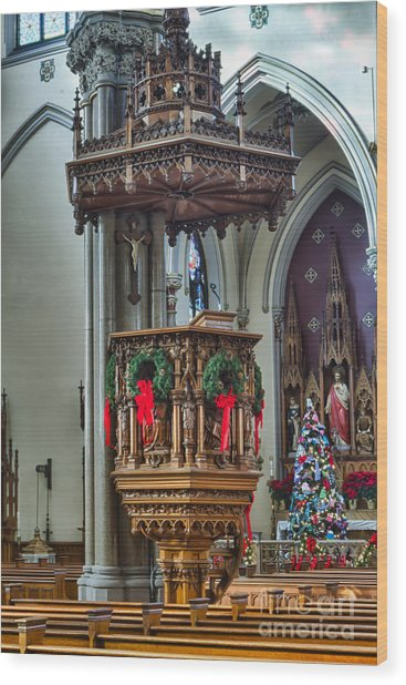 St Louis Church 11 Wood Print by Chuck Alaimo
