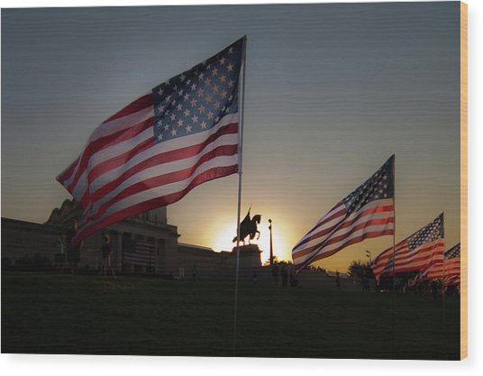 St Louis Remembers 9 11 Wood Print