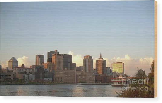 St. Paul Skyline Wood Print