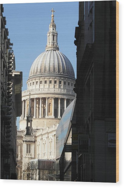 St Pauls Cathedral - London Wood Print by Dickon Thompson