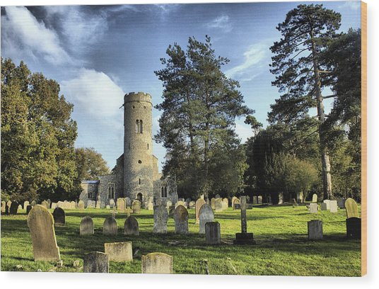 St Peters Church Forncett Norfolk England Wood Print by Darren Burroughs