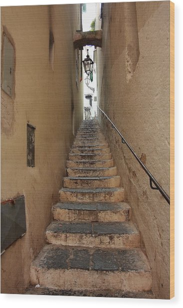 Stairs Italian Wood Print by Ryszard Unton