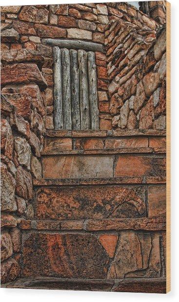 Stairsto Nowhere Wood Print