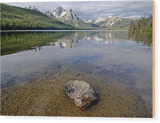 Stanley Lake Wood Print by Elijah Weber