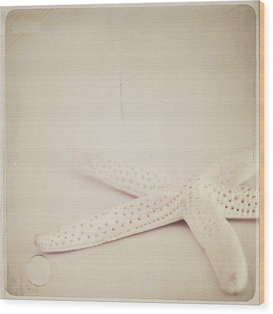 Starfish Wood Print by Laura Ruth