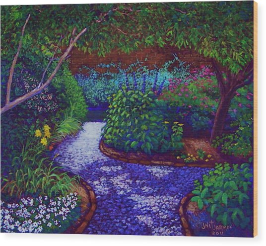 Southern Garden Wood Print