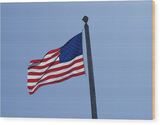 Stars And Stripes Wood Print by Jerry Cahill
