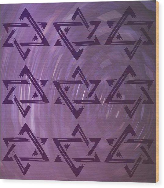Stars Wood Print by Daryl Macintyre