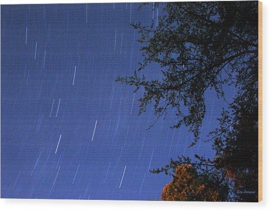 Stars Falling Wood Print