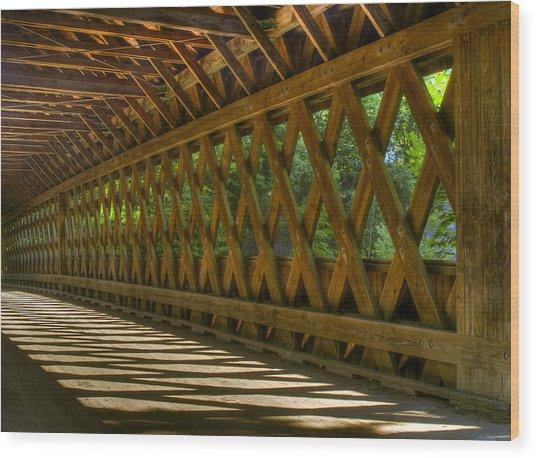 State Road Covered Bridge Wood Print