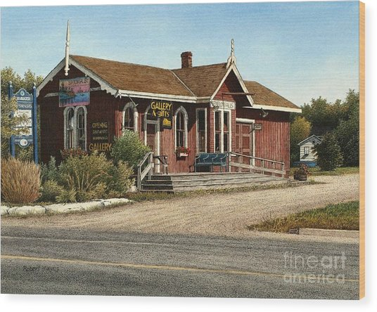 Station Gallery Fenelon Falls Wood Print