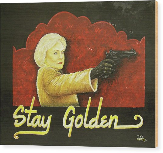 Stay Golden Wood Print by Matthew Powell