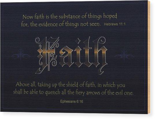 Steadfast Faith Wood Print by Greg Long