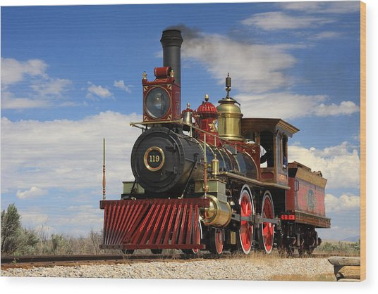 Steam Locomotive  Wood Print by Gene Praag