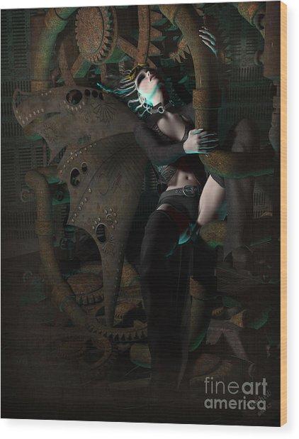 Steam Punk Fairy Wood Print