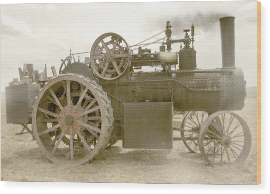 Steam Tractor Wood Print by Kevin Felts