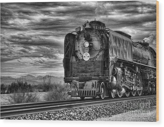 Steam Train No 844 - Iv Wood Print