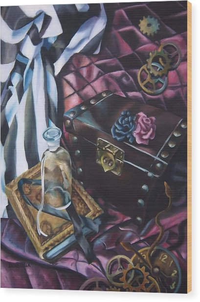 Steampunk Still Life Wood Print by Lori Keilwitz