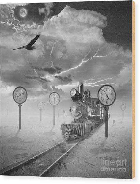 Steampunk Traveler Wood Print