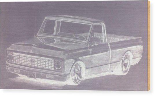 Steel 72 Wood Print by Bradley   Howell