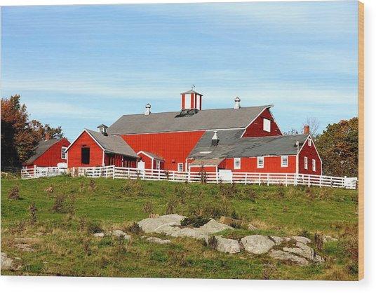 Steele Hill Farm Wood Print