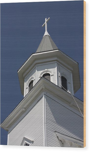 Steeple Top Wood Print
