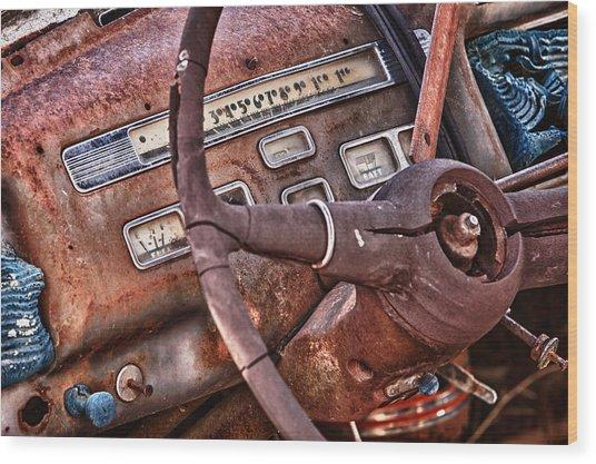Steering Wheel Wood Print by Richard Steinberger