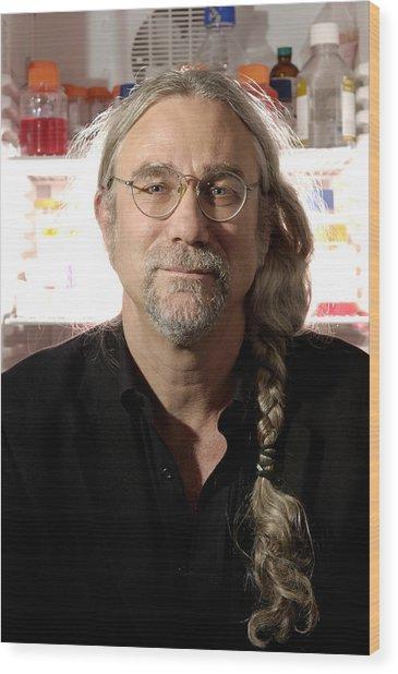 Stephen Minger, Stem Cell Researcher Wood Print by Volker Steger