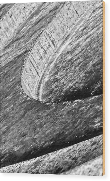 Steps Of Education Wood Print by Nicholas Evans