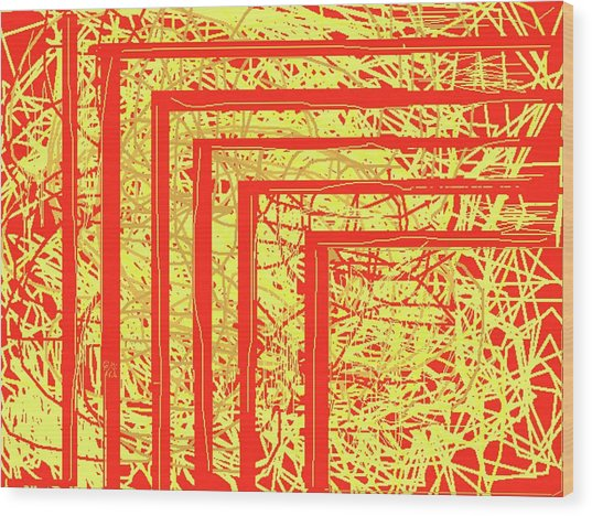Steps Of Fire Wood Print