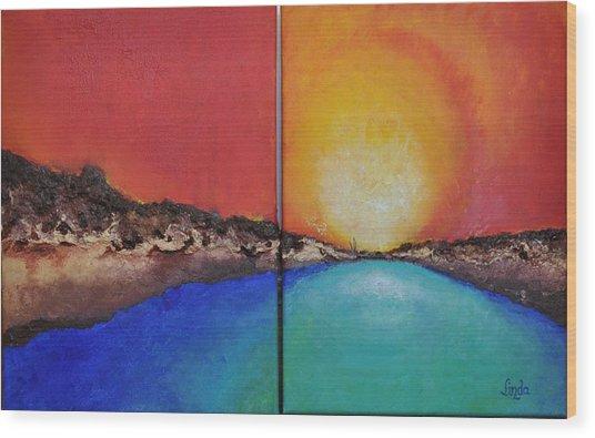 Stilbaai Sunset Wood Print