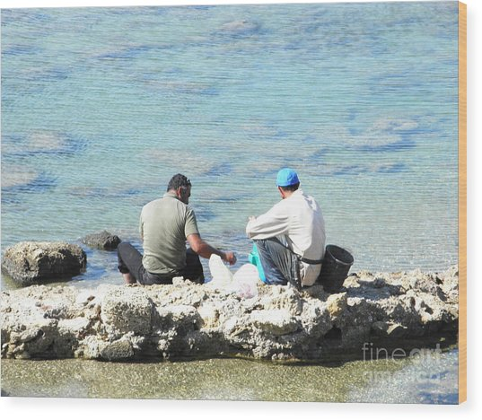 Still Fishing On The Sea Of The Galilee Wood Print