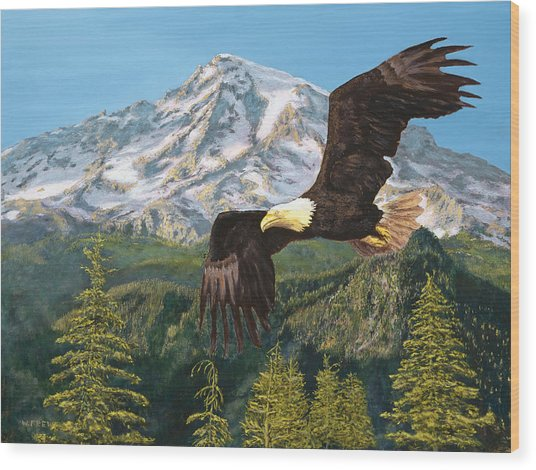 Still Flying High Wood Print