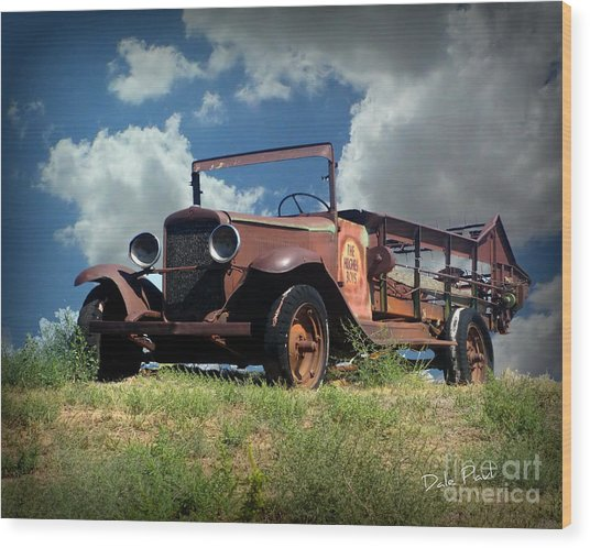 Still Truckin' Wood Print