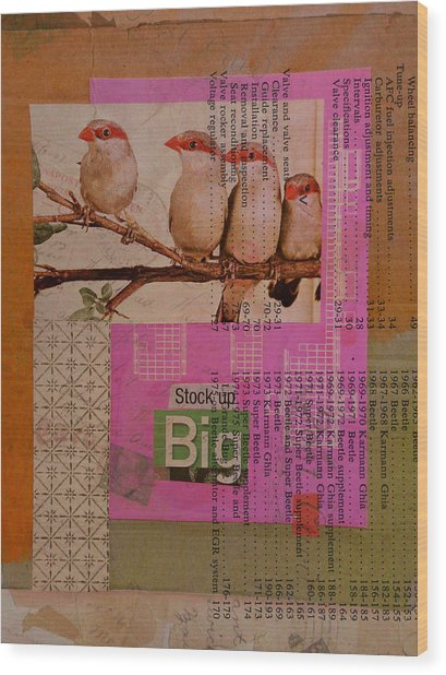 Stock Up Big Wood Print by Adam Kissel