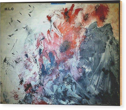 Stolen Kisses Wood Print by Montserrat Lopez Ortiz
