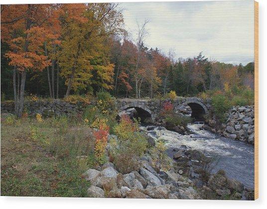 Stone Bridge Autumn 2011 Wood Print
