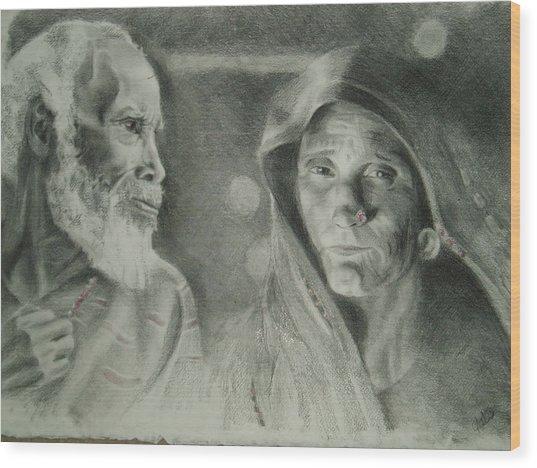 Stories Wood Print by Joanna Gates