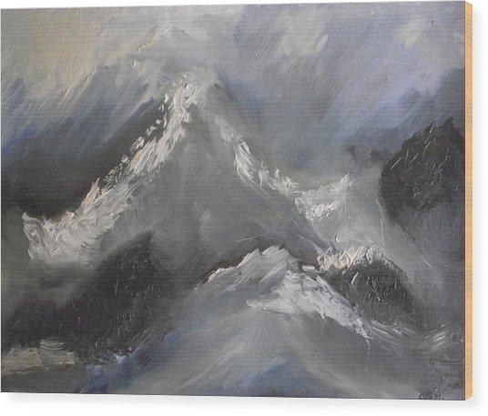 Storm Gathering Wood Print