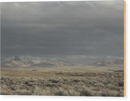 Storm In Dunes Wood Print